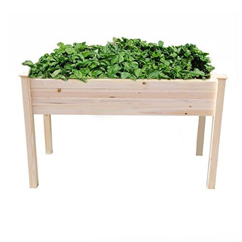 Yardeen Raised Vegetable Gardening Bed Yard Big Herb Planter Box Naturel Cedar Wood 7.48'' Box Depth by Yardeen