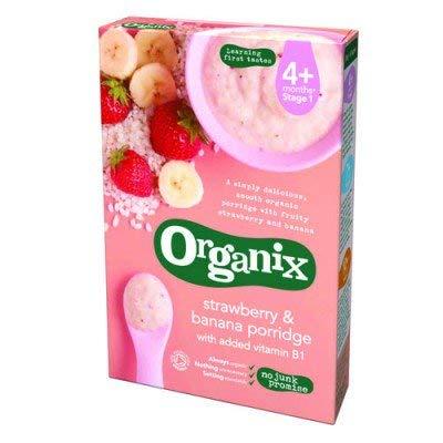 Organix   Strawberry & Banana Porridge (6+)   4 X 120G ORGANIX (VEGETARIAN)