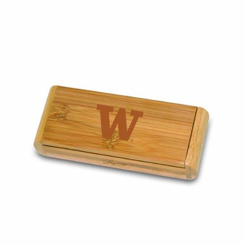 NCAA Washington Huskies Elan Deluxe Waiter's Corkscrew in Gift Box, Bamboo by PICNIC TIME (Image #2)