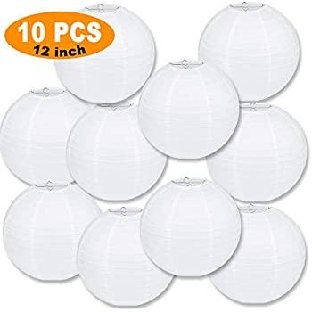 Amazon.com: 24pcs White Paper Lanterns Decoration for ...