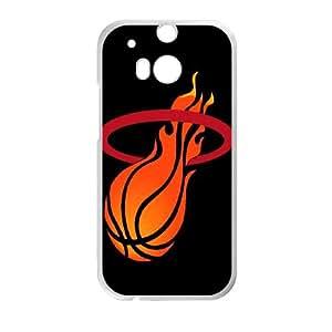 HTC One M8 Cell Phone Case White Miami Heat M2367174