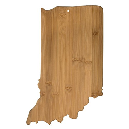 Totally Bamboo Indiana State Shaped Bamboo Serving and Cutting Board
