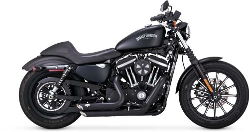 - Vance & Hines 47229 Vance and Hines Shortshots Staggered Full System Exhaust for Harley Sportster 2014-18 models- Black