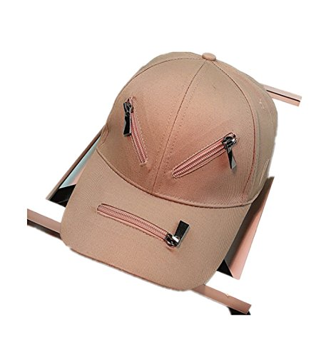 micrkrowen Face Type Diagram Hat Sunscreen Hip Hop Duck Tongue Shade Cap(Khaki) by micrkrowen