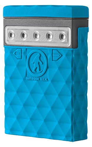 Portable Battery Charger – Outdoor Tech Kodiak Mini 2.0 Portable Charger – Electric Blue – Waterproof and Water Resistant – Dust and Shockproof - 2600mAh Rechargeable Battery (Certified Refurb...