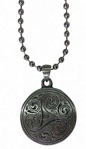 Triskele Pendant with Ball Chain