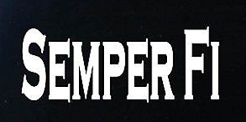 - Semper Fi Marines Sticker Decal | Cars Trucks Vans Walls Laptop | White | 6.5 in Decal | CCI274