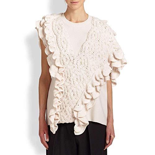 3.1 Phillip Lim Wool Crochet Ruffle Sleeveless Knit Sweater Vest