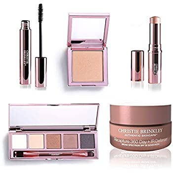 Christie Brinkley Authentic Beauty Glow To Collection Plus Bonus Recapture Day IR Defense Anti-Aging Day Cream