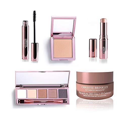Christie Brinkley Authentic Beauty Glow To Collection Plus Bonus Recapture Day IR Defense Anti-Aging Day Cream