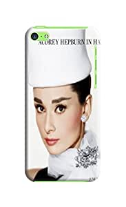 The best seling tpu skin case cover with texture for iphone 5c of Audrey Hepburn in Fashion E-Mall