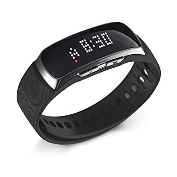 GolfBuddy BB5 Golf GPS LED Band, Black/Silver