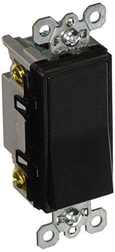 Pass & Seymour TM874BKCC6 4-Way Decorator Switch, Grounded, 15-Amp, 120-volt, (Pass & Seymour 4 Way)