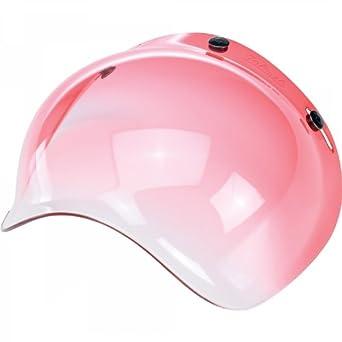 """Visera """"Burbuja"""" Bubble Biltwell, color rojo gradiente, para cascos de moto"""