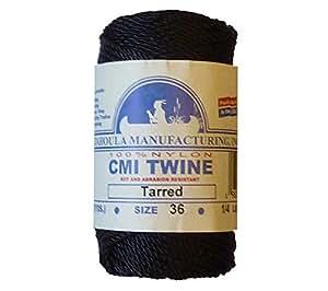 Catahoula Manufacturing #36 Tarred Twisted Nylon Twine (Bank Line) 117' Spool, 348lb Test