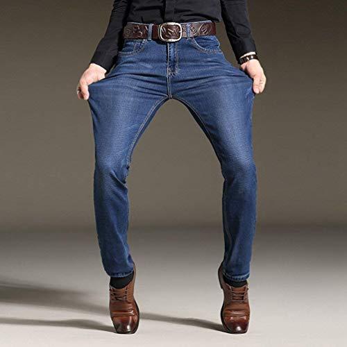 Jeans Slim Casual Da Blau Estilo Bobo 88 Pantaloni In Denim Uomo Vintage Comodi Stretch Especial 5qF8A