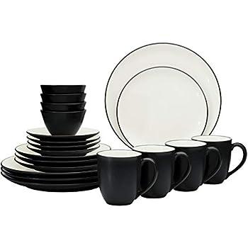 Noritake 20-Piece Value Dinnerware Set in Black/Graphite