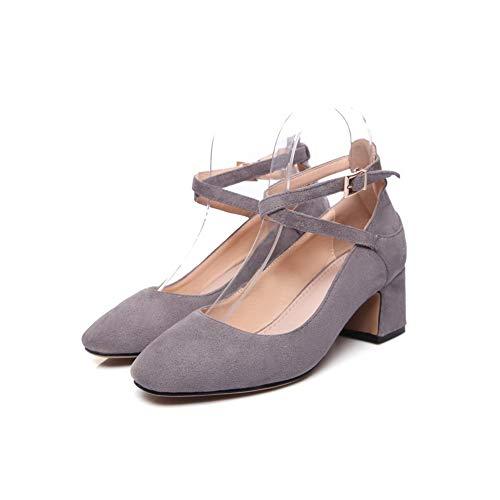 Sandales Gris Compensées Femme AdeeSu SDC05961 SWZ6Raqn