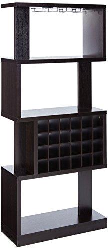 24/7 Shop at Home 247SHOPATHOME IDI-14989 Anati Wine Cabinet, Cappuccino