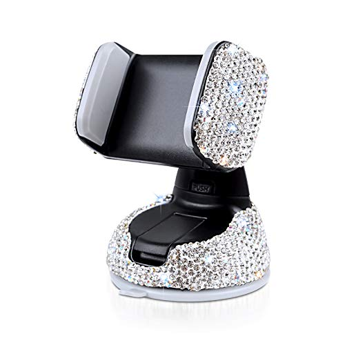 eing Car Phone Mount Cell Phone Holder with One More Air Vent Base,Bling Crystal Universal Phone Mount Holder Cradle for…