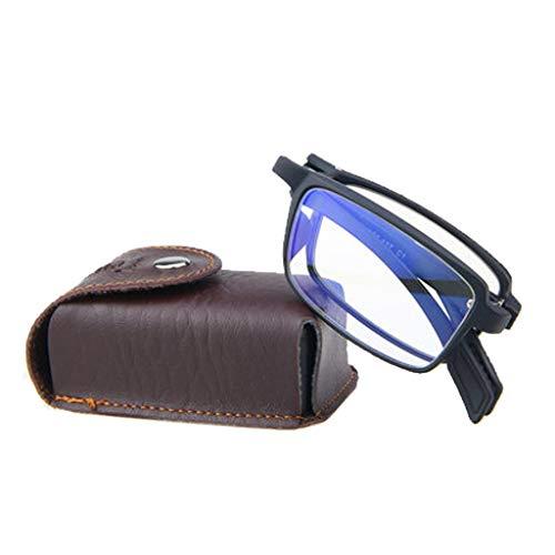 (Black Anti-Blue Reading Glasses,Men and Women Fashion Ultra Light Folding Elegant Comfortable Portable Hd Presbyopic Old Glasses )