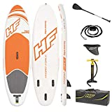 Bestway Hydro-Force Aqua Journey Inflatable SUP Stand Up Paddle Board with Paddle, Carry Bag and Pump (2019 Model)