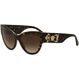 Versace Women's VE4322 Havana/Brown Gradient Sunglasses