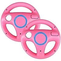 2pcs Pink Mario Kart Steering Wheel for Nintendo Wii
