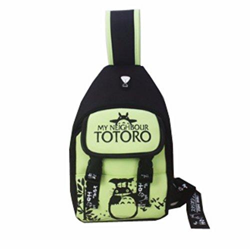 rare Schultertasche Tasche Shoulder Bag Rucksack reisetaschen Grün Schwarz totoro new