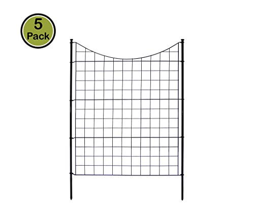 Zippity Outdoor Products WF29002 Garden Metal Fence 1 Box (5 Panels & 6 Stakes), 42