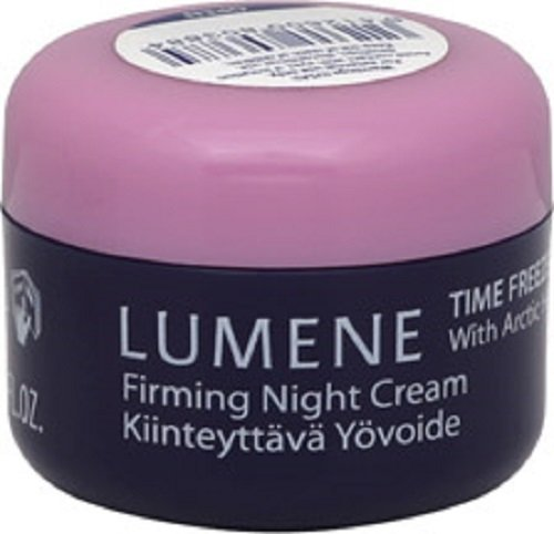 - Lumene Time Freeze Firming Night Cream With Arctic Heather For Face & Neck, .05 oz NEW