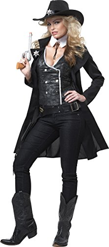 California Costumes Women's Round' Em Up! Adult, Black, Small