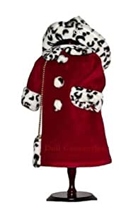 """American Girl Locker Leopard Print Velvet Coat with PURSE - fits American Girl 18"""" Doll Clothes"""
