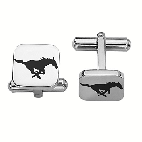 Southern Methodist Mustangs Stainless Steel Square Cufflinks