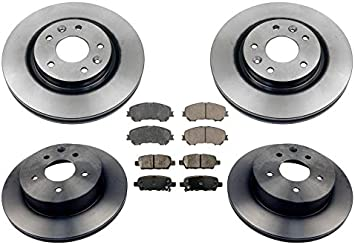 Rear Brake Rotors and Ceramic Pads 2016 2017 FOR NISSAN ROGUE