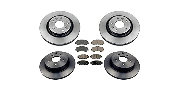 14 15 16 Fit Nissan Rogue OE Replacement Rotors w//Ceramic Pads F+R