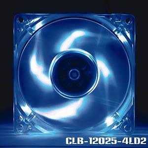 Evercool 120mm x 25mm Blue Ball Bearing Case Fan w/ 3 pin + 4 Pin Molex Connector (Bearing Blue Ball)