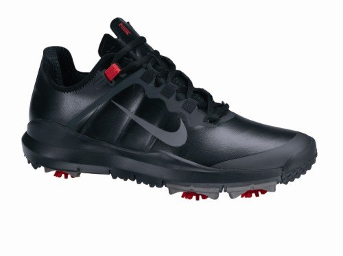 Nike Golf Men's Nike TW 13 Wide Golf Shoe,Black/Varsity Red/Stealth,10 W US