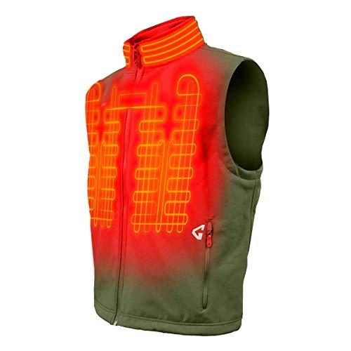 Gerbing Gyde Torrid Softshell Vest - 7V Battery Heated Clothing for Men, Olive Green