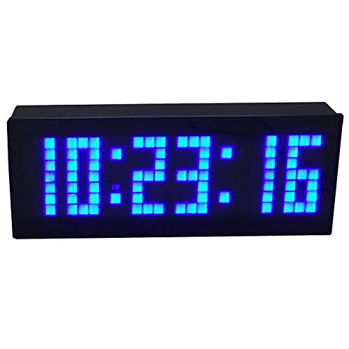 BTBSIGN LED Digital Countdown Wall Clock with Remote Gym Fitness Sport Timing Clock (Blue)