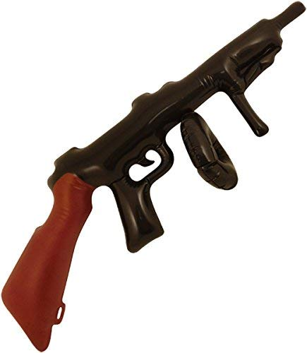 (Inflatable Blow up Tommy Gun 80 cm Gangster Fancy dress Party Prop)