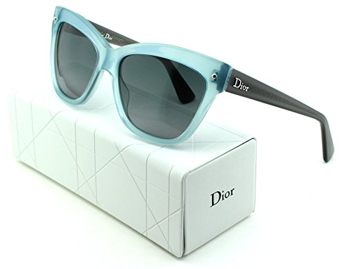 Dior Jupon 2 Cateye Women Sunglasses (Light Blue Frame, Grey Gradient Lens - Made Sunglasses Dior In Italy