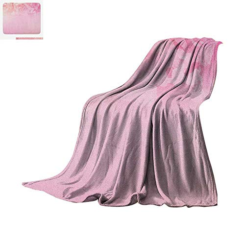 ofiber All Season Blanket Rose Petals in Soft Pastel Tones Romantic Bridal Floral Love Valentines Graphic Art Summer Quilt Comforter 90