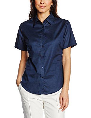 Fruit of the Loom Ss110m, Camisa para Mujer azul (marino)