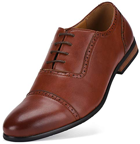 Gallery Seven Mens Cap Oxford Dress Shoes