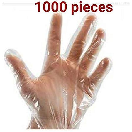 1000 pcs Plastic Transparent Disposable Clear Gloves