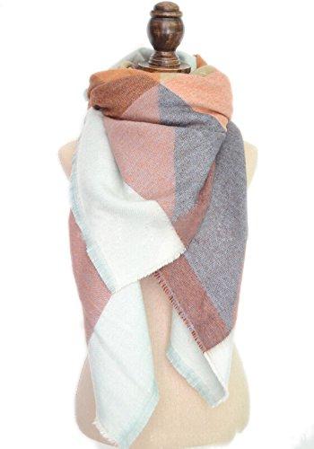 Vlunt mujer bufanda invierno Wrap chal bufanda de cuadros O
