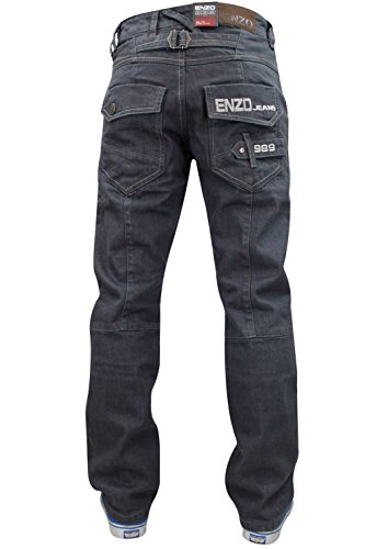 48 28 Regolare Grey Gamba Girovita Dritta Taglio Denim A Uomo Enzo Custodia Jeans 4qpwPqRfn