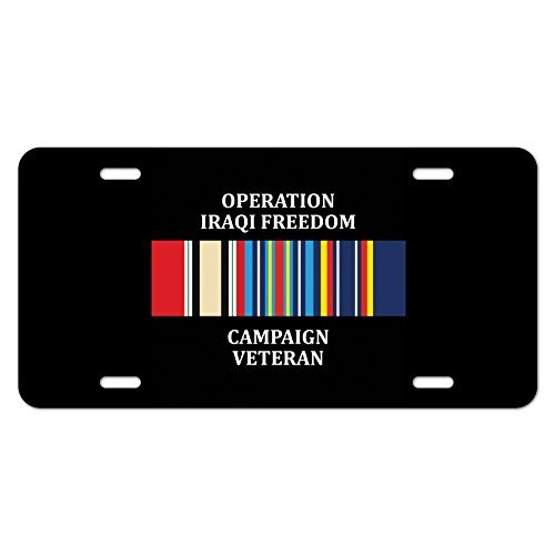 zaeshe3536658 Marines Operation Iraqi Freedom Campaign Veteran Ribbon OIF Officially Licensed Novelty Metal Vanity Tag License Plate by zaeshe3536658