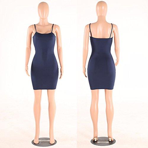 Basic Vest Party Dresses Solid Backless Antopmen Dress Blue Women Sexy Strap Sleeveless Slim Vestidos Navy Tanks Bodycon Dress qB86tH6